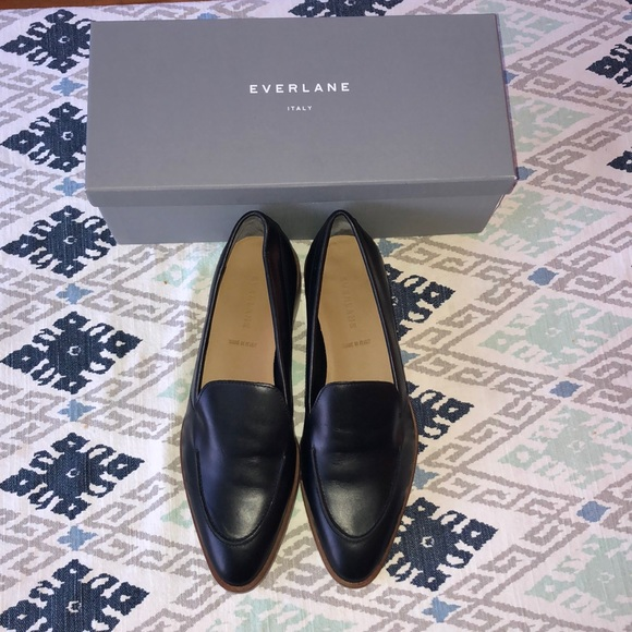 bbec7602bf7 Everlane Black Italian Leather Loafers Size 10 NWB
